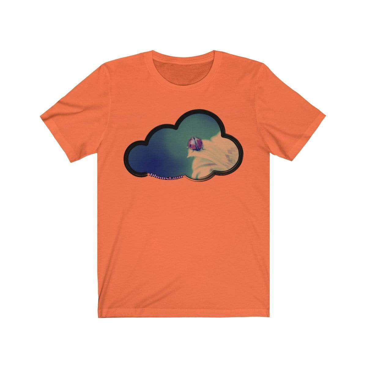 Printify T-Shirt Orange / M Ladybug Art Clouds Tee