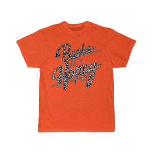 Printify T-Shirt Orange / S Positively Broke & Happy