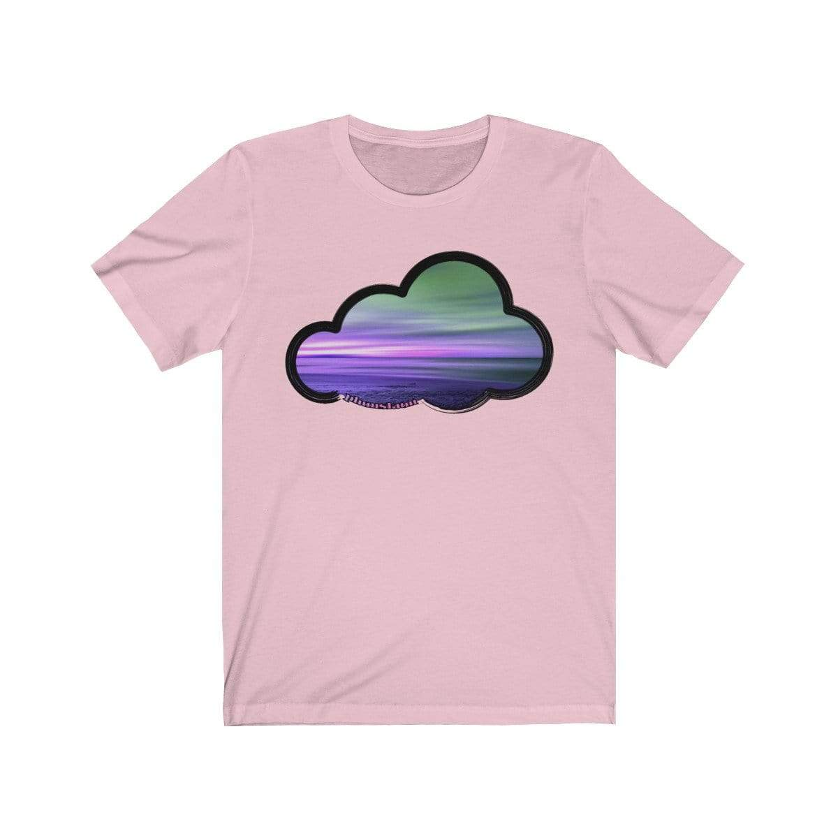 Printify T-Shirt Pink / M Beaches Art Clouds Tee
