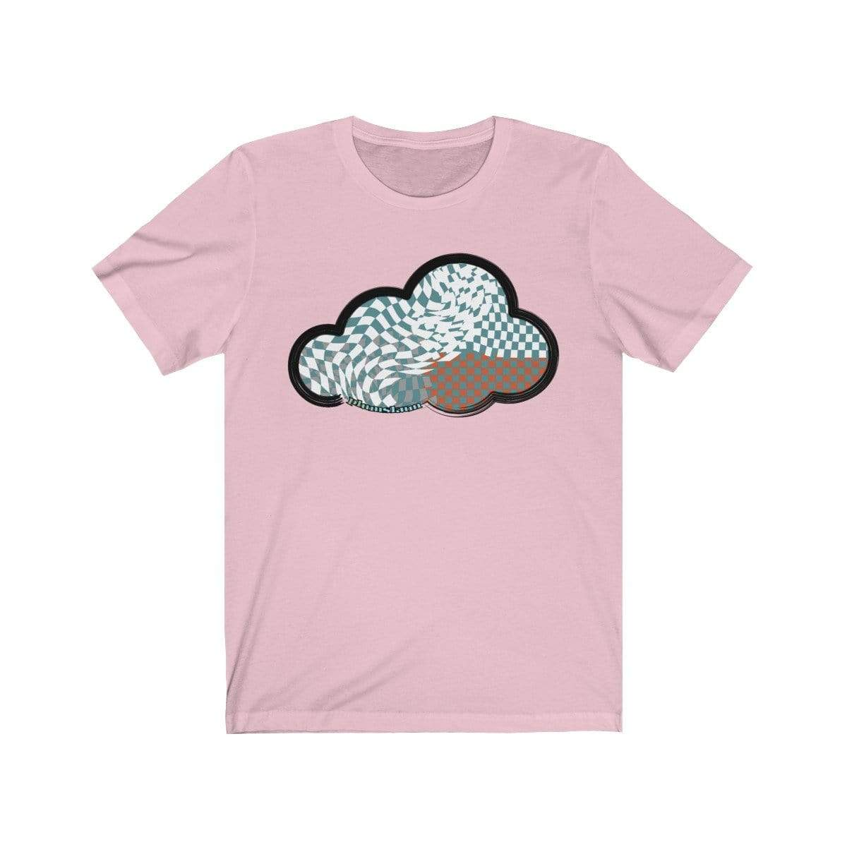 Printify T-Shirt Pink / M Checker Art Clouds T-Shirt