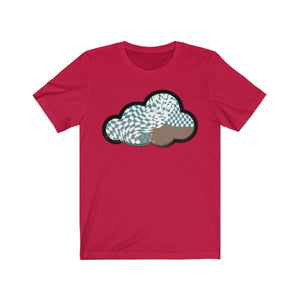 Printify T-Shirt Red / M Checker Art Clouds T-Shirt