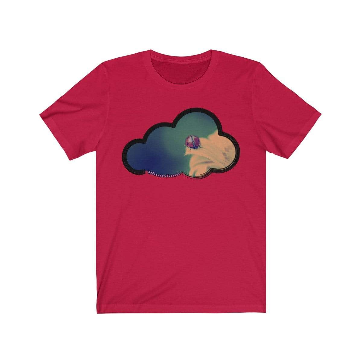 Printify T-Shirt Red / M Ladybug Art Clouds Tee