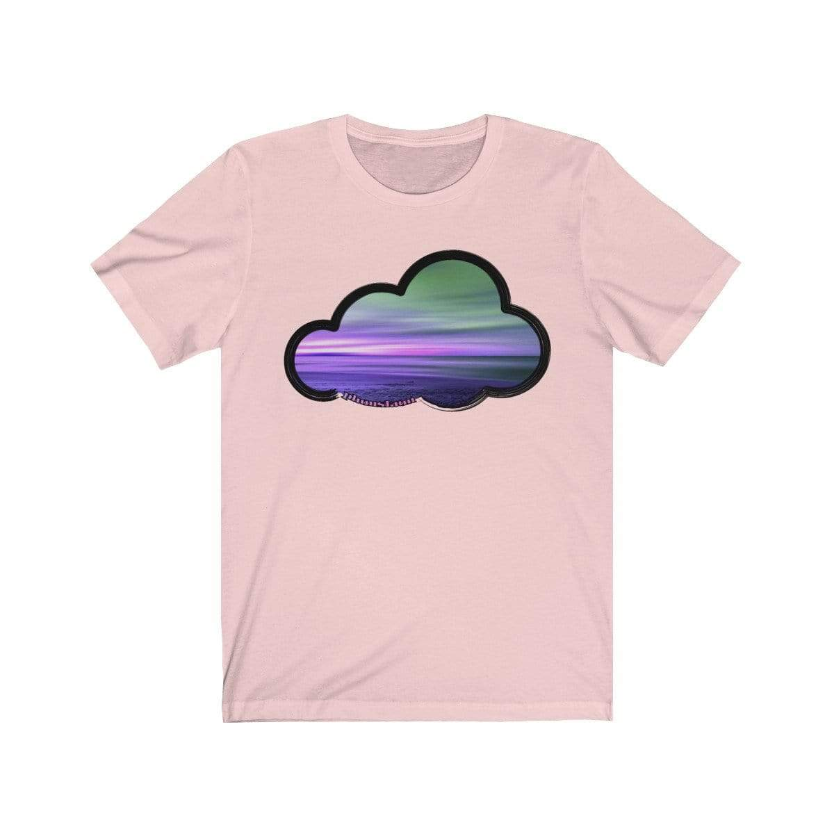 Printify T-Shirt Soft Pink / M Beaches Art Clouds Tee