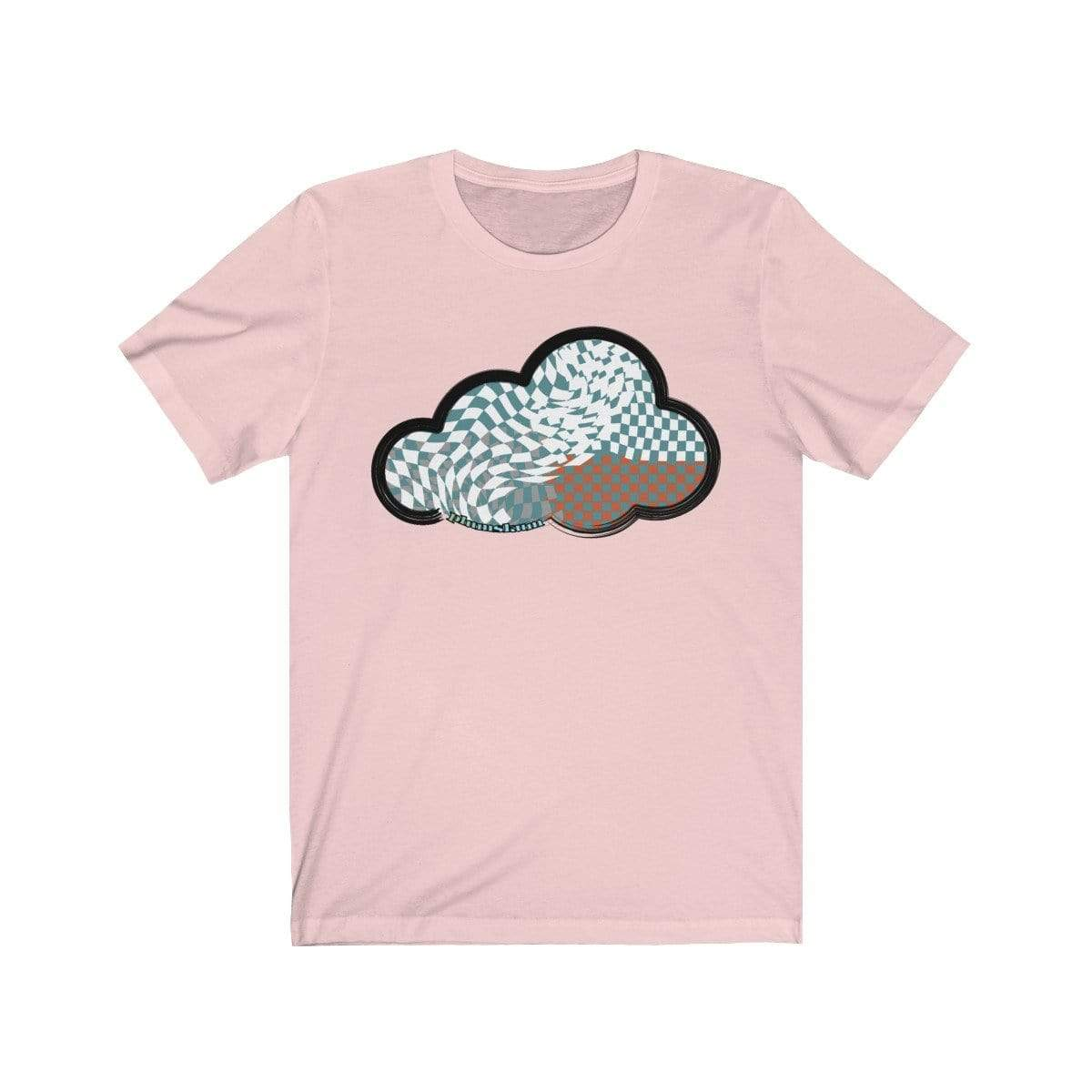 Printify T-Shirt Soft Pink / M Checker Art Clouds T-Shirt