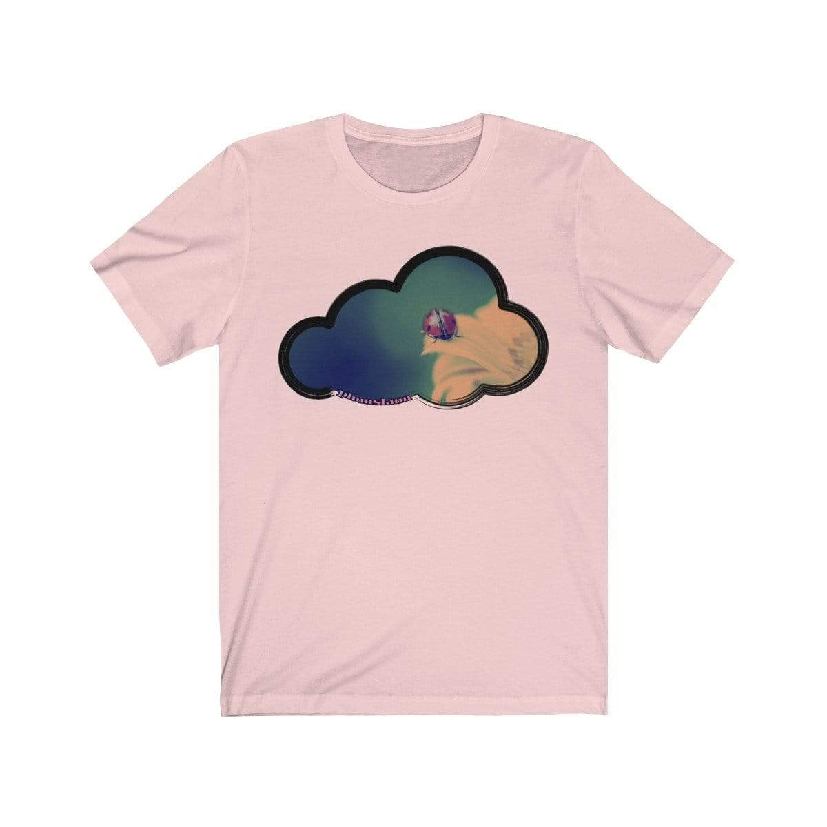 Printify T-Shirt Soft Pink / M Ladybug Art Clouds Tee