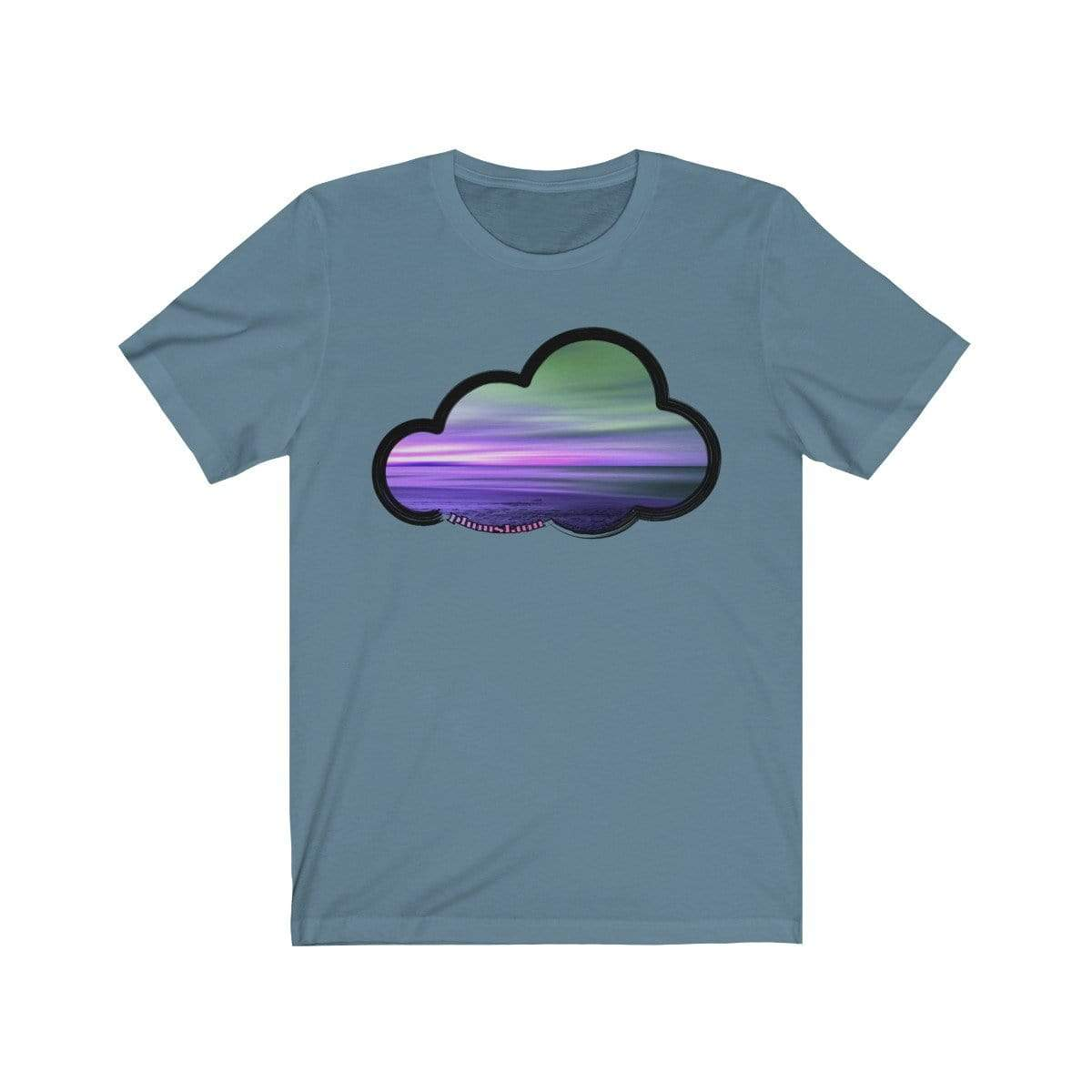 Printify T-Shirt Steel Blue / M Beaches Art Clouds Tee