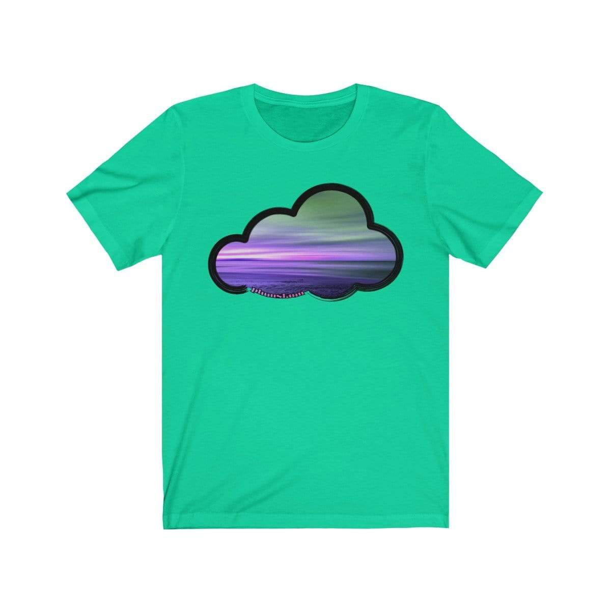 Printify T-Shirt Teal / M Beaches Art Clouds Tee