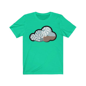 Printify T-Shirt Teal / M Checker Art Clouds T-Shirt