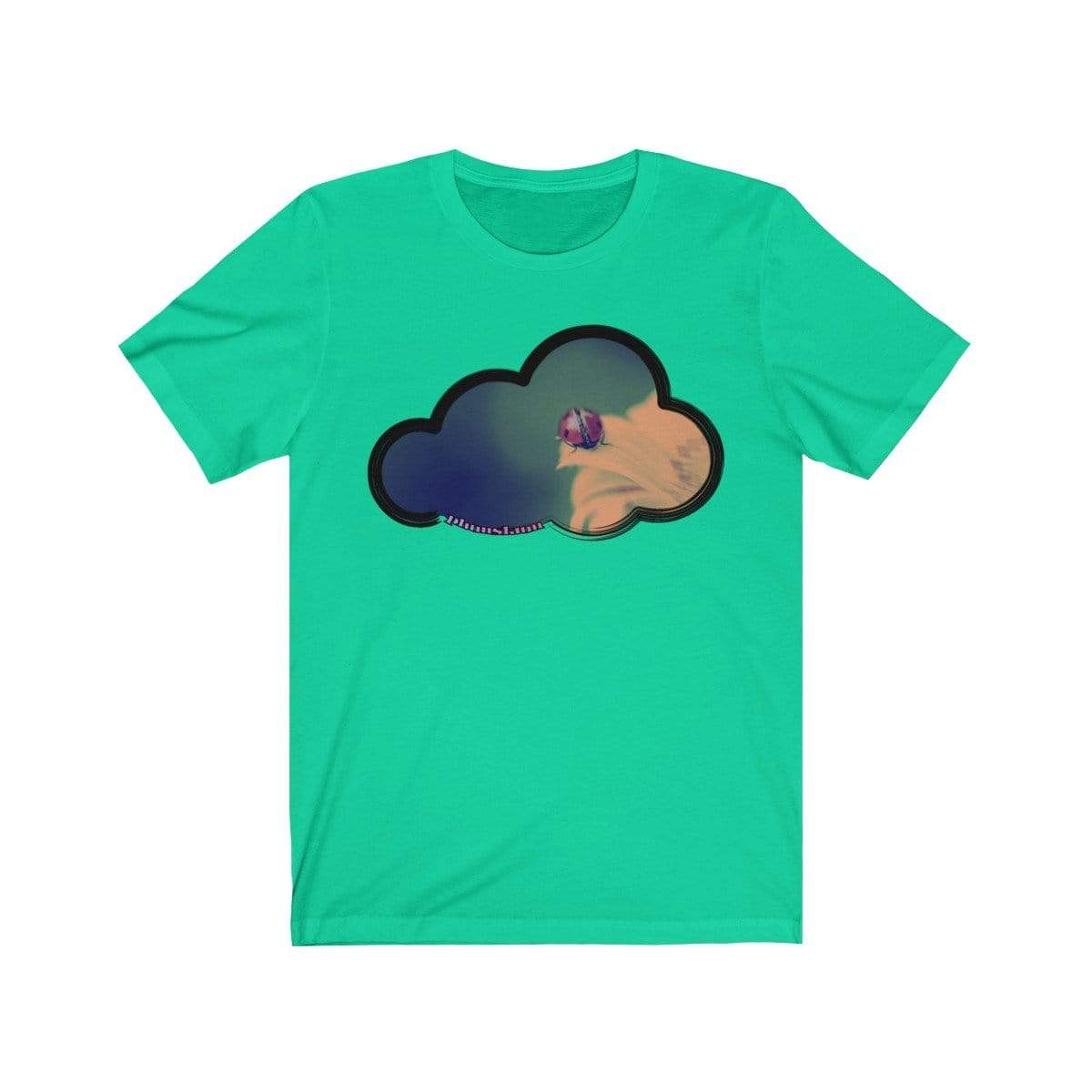 Printify T-Shirt Teal / M Ladybug Art Clouds Tee