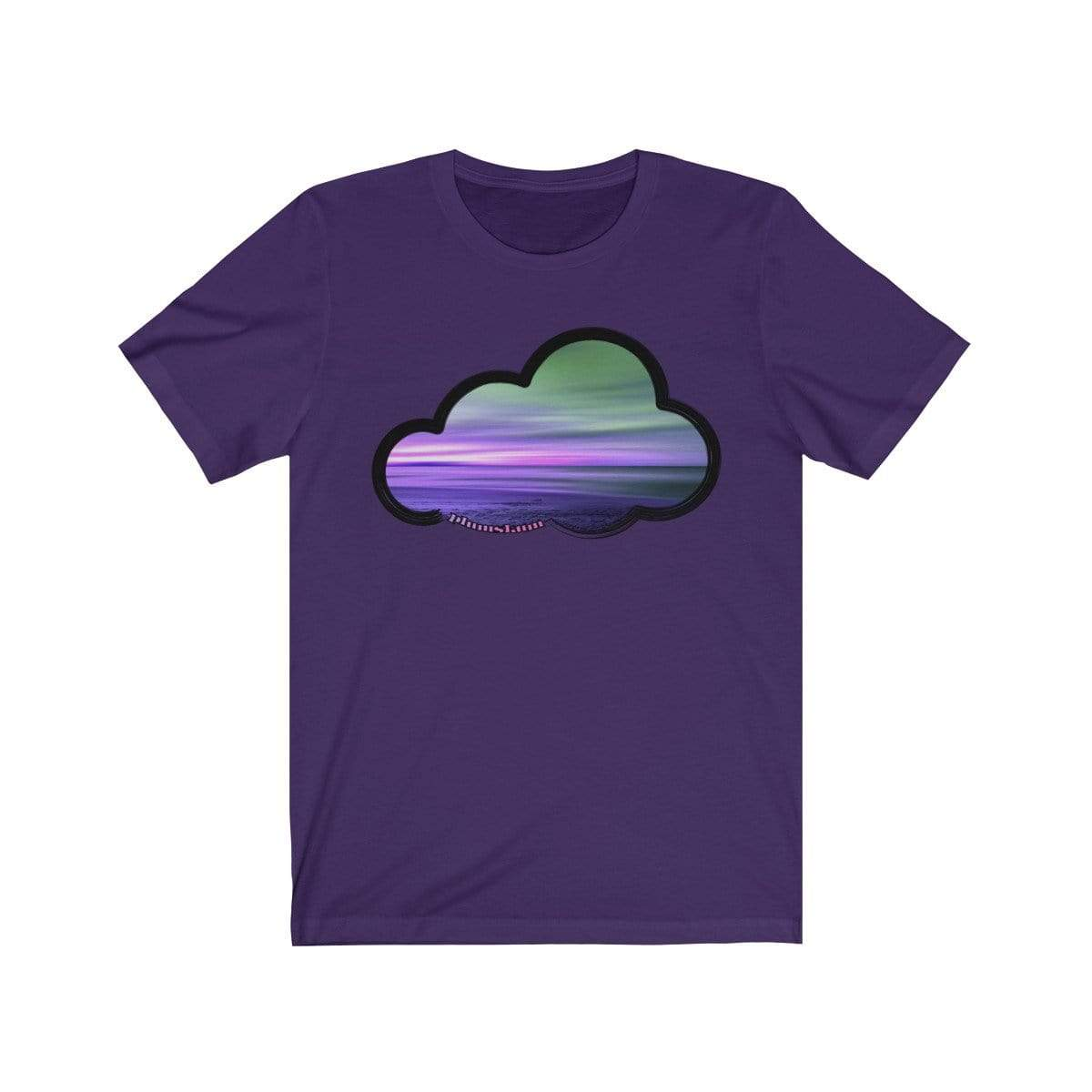 Printify T-Shirt Team Purple / M Beaches Art Clouds Tee