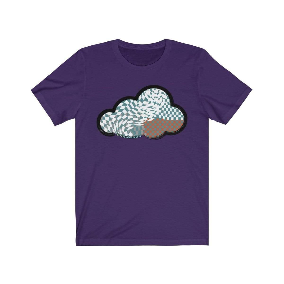 Printify T-Shirt Team Purple / M Checker Art Clouds T-Shirt