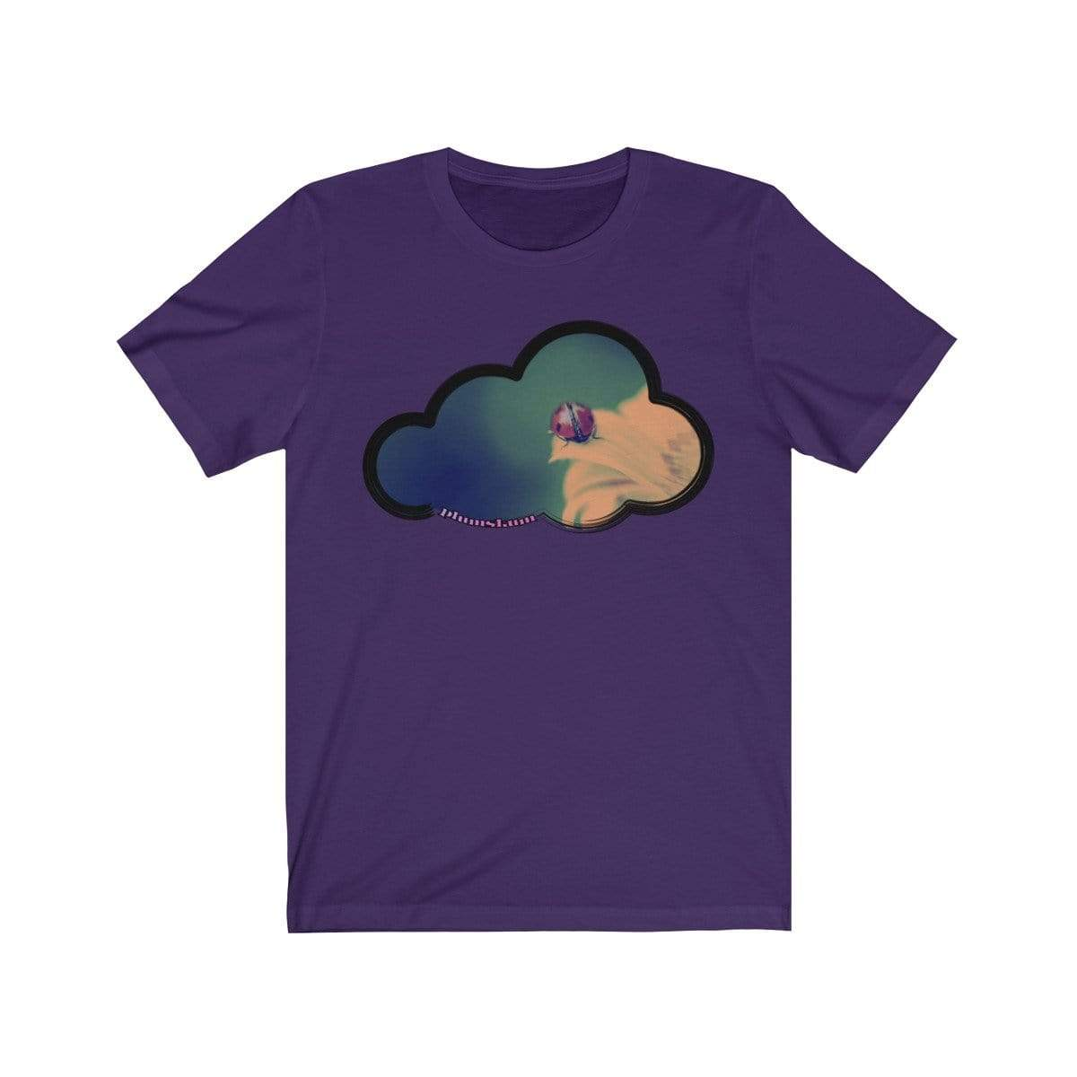 Printify T-Shirt Team Purple / M Ladybug Art Clouds Tee