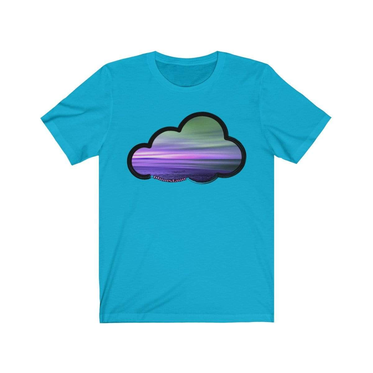 Printify T-Shirt Turquoise / M Beaches Art Clouds Tee