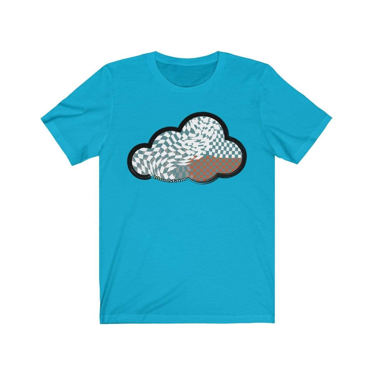 Printify T-Shirt Turquoise / M Checker Art Clouds T-Shirt