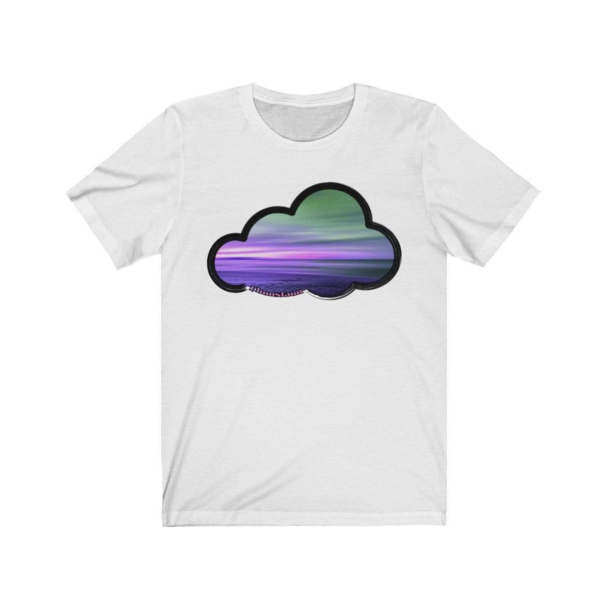 Printify T-Shirt White / M Beaches Art Clouds Tee