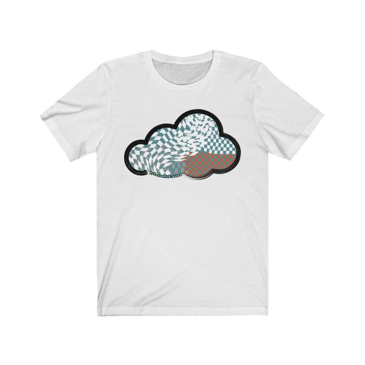 Printify T-Shirt White / M Checker Art Clouds T-Shirt