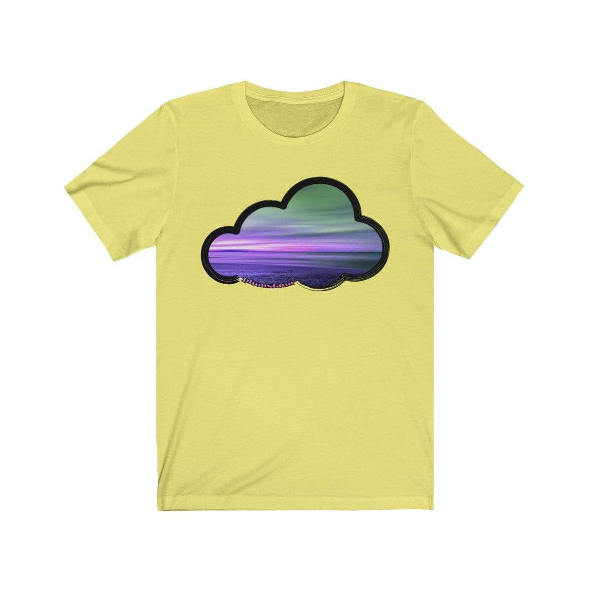 Printify T-Shirt Yellow / M Beaches Art Clouds Tee