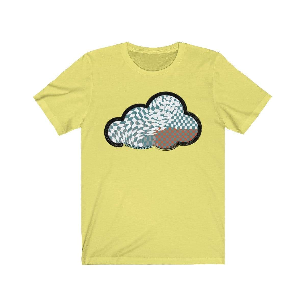 Printify T-Shirt Yellow / M Checker Art Clouds T-Shirt