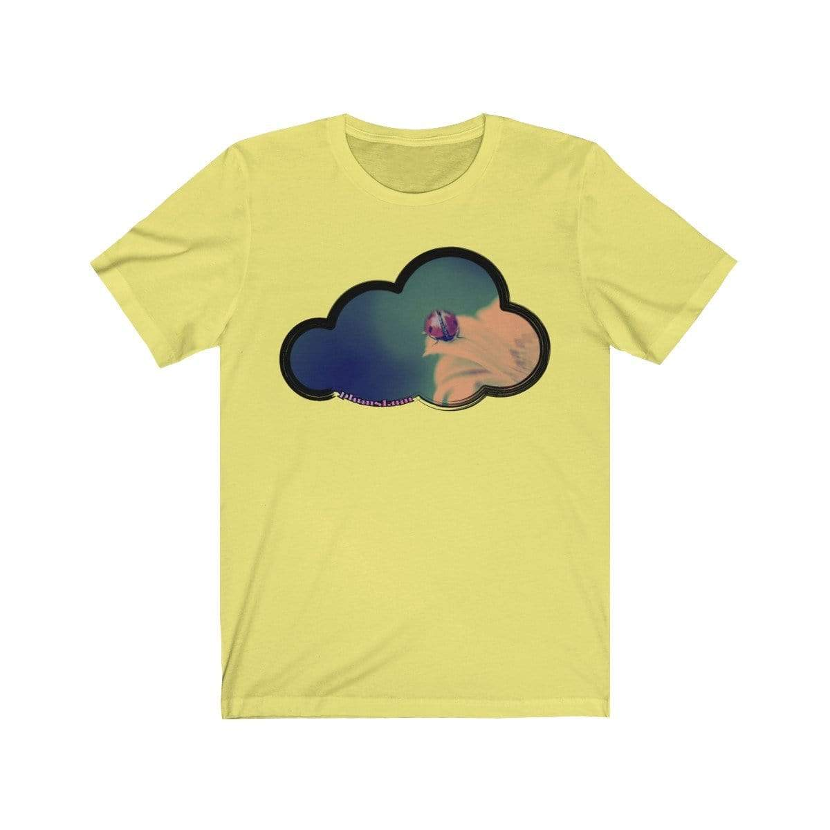Printify T-Shirt Yellow / M Ladybug Art Clouds Tee