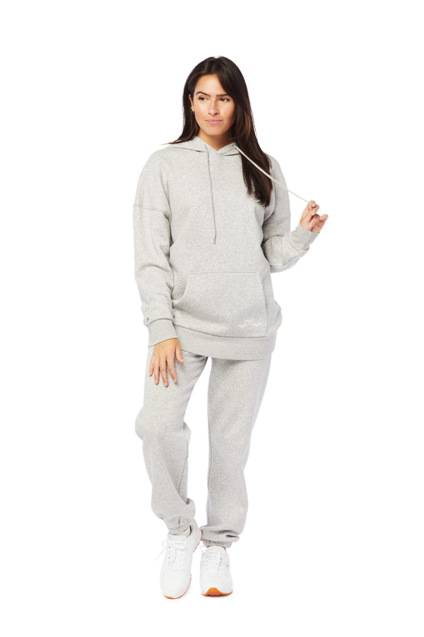 Niki & Cooper fleece set in classic grey from Lazypants - always a great buy at a reasonable price.