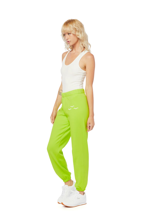 Niki Ultra Soft Sweatpants in Green Fluo from Lazypants - always a great buy at a reasonable price.