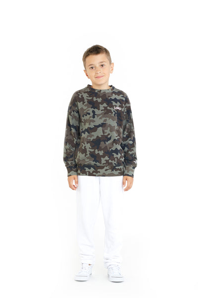 Casey Kids Boyfriend Crew in Green Camo from Lazypants - always a great buy at a reasonable price.