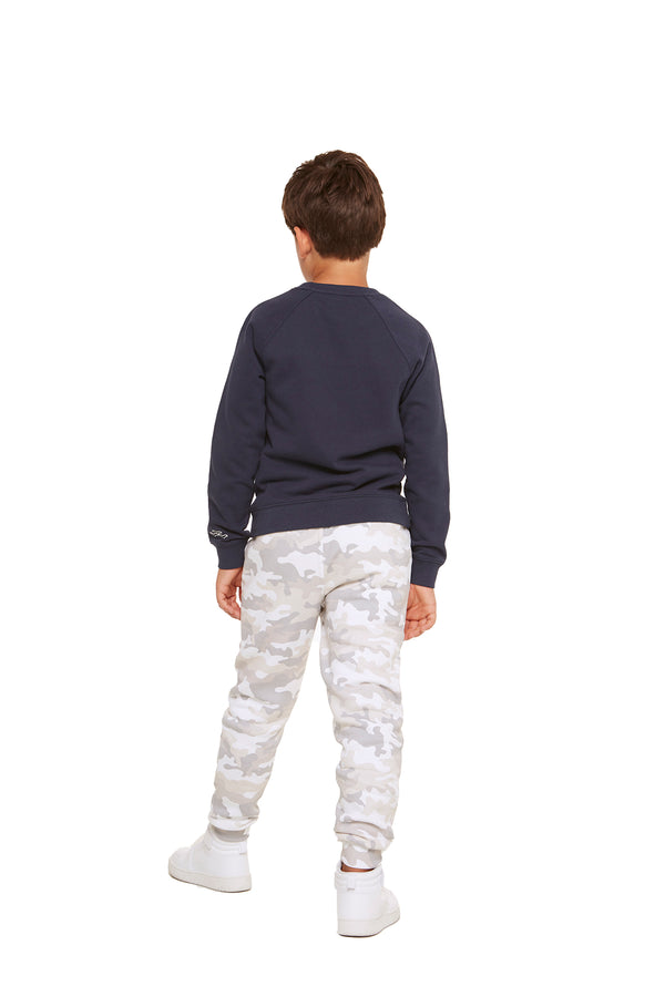 Casey Kids Boyfriend Crew in Navy from Lazypants - always a great buy at a reasonable price.