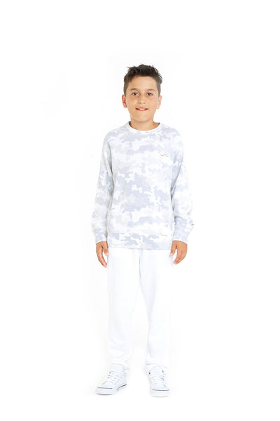 Casey Kids Boyfriend Crew in White Camo from Lazypants - always a great buy at a reasonable price.