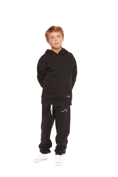Kids Niki and Cooper fleece set in black from Lazypants - always a great buy at a reasonable price.