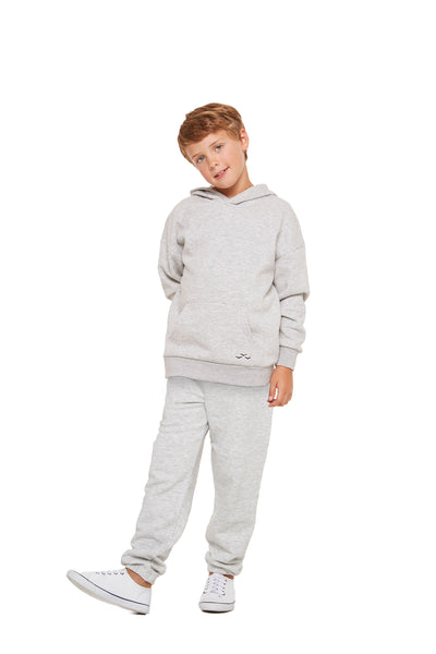 Kids Niki and Cooper fleece set in classic grey from Lazypants - always a great buy at a reasonable price.