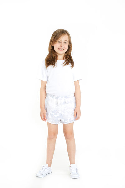 Jackie Kids Retro Short in White Camo from Lazypants - always a great buy at a reasonable price.