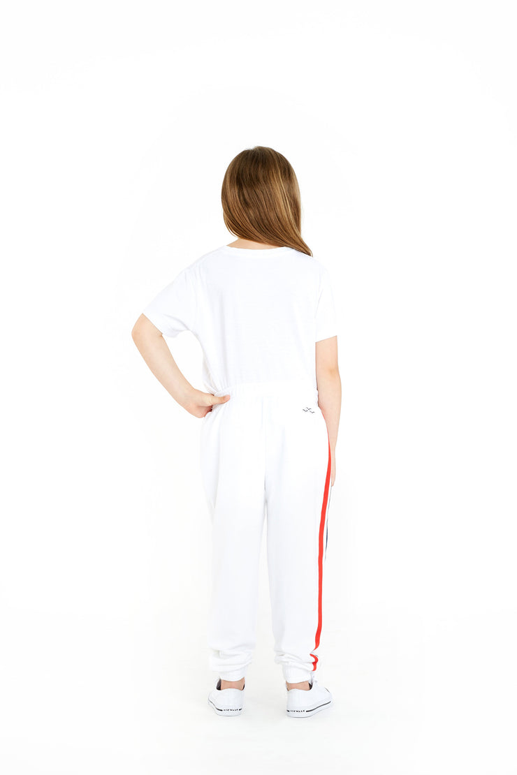 The Lucas Striped Jogger in White from Lazypants - always a great buy at a reasonable price.