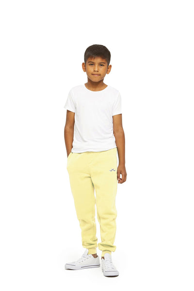 Charlie Kids Slim Jogger in Mellow Yellow from Lazypants - always a great buy at a reasonable price.
