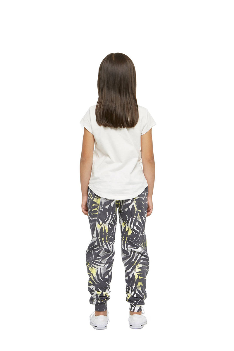 Charlie Kids Slim Jogger in Palm Print from Lazypants - always a great buy at a reasonable price.
