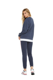The Casey boyfriend crew in navy from Lazypants - always a great buy at a reasonable price.