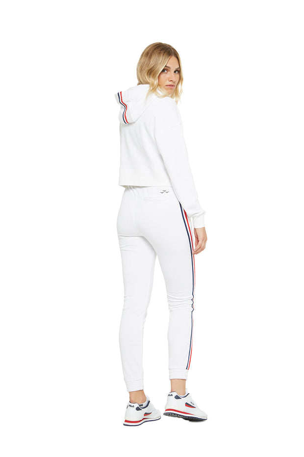 The Lucas Striped Jogger in White