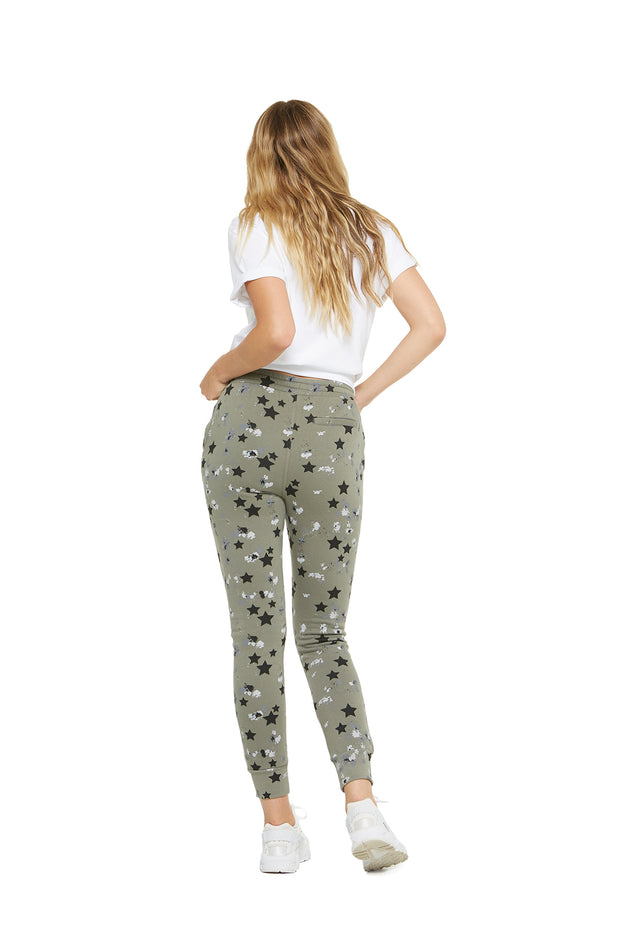 Charlie Slim Jogger in splatter stars from Lazypants - always a great buy at a reasonable price.
