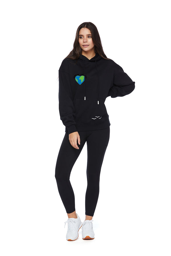 Chloe Earth Day Hoodie in Black from Lazypants - always a great buy at a reasonable price.