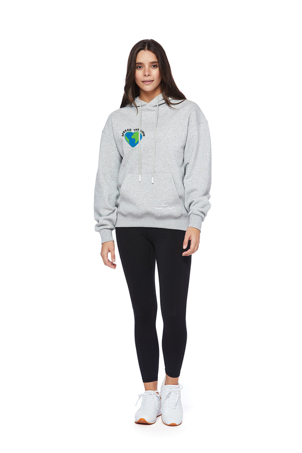 Chloe Earth Day Hoodie in Classic Grey from Lazypants - always a great buy at a reasonable price.