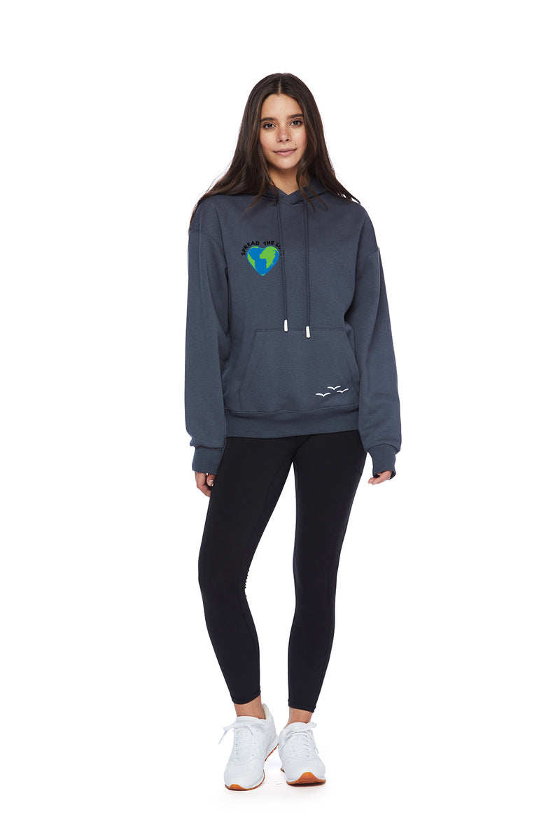 Chloe Earth Day Hoodie in Navy Wash from Lazypants - always a great buy at a reasonable price.