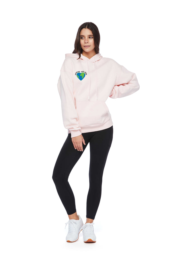 Chloe Spread The Love Hoodie in Petal Pink from Lazypants - always a great buy at a reasonable price.