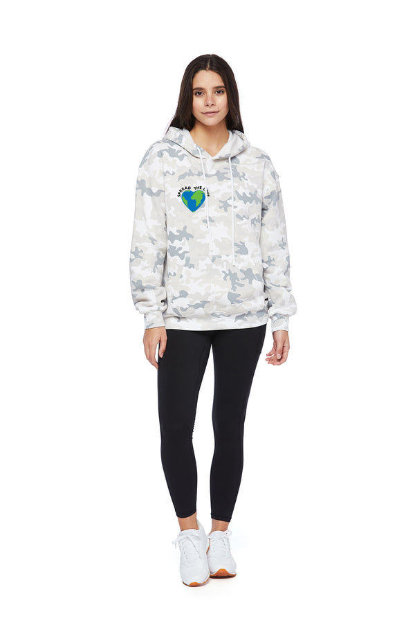 Chloe Earth Day Hoodie in White Camo from Lazypants - always a great buy at a reasonable price.