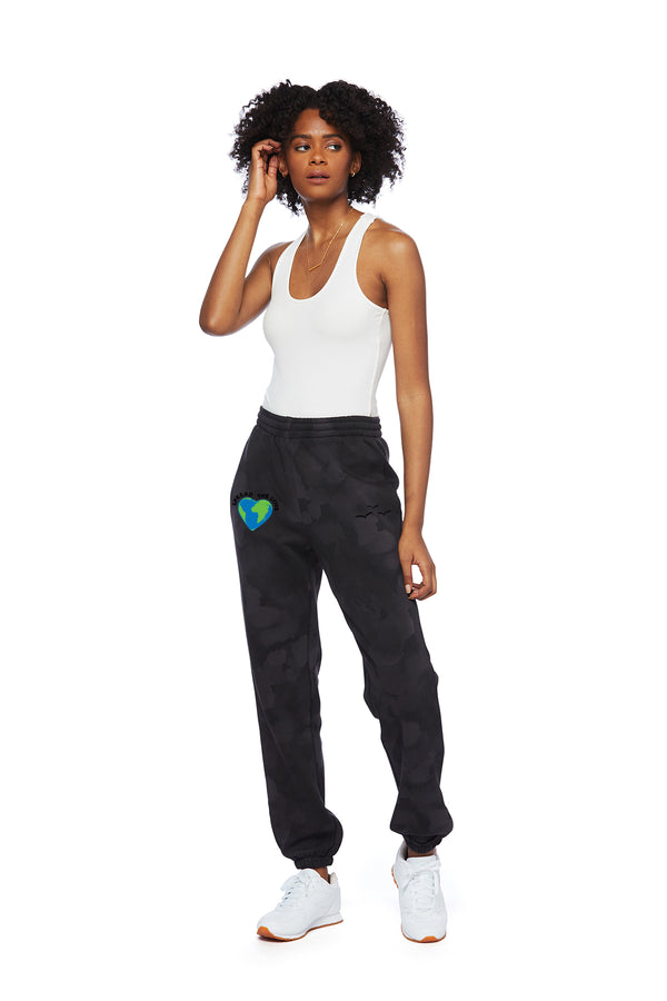 Nova Earth Day Boyfriend Jogger in Black Sponge from Lazypants - always a great buy at a reasonable price.