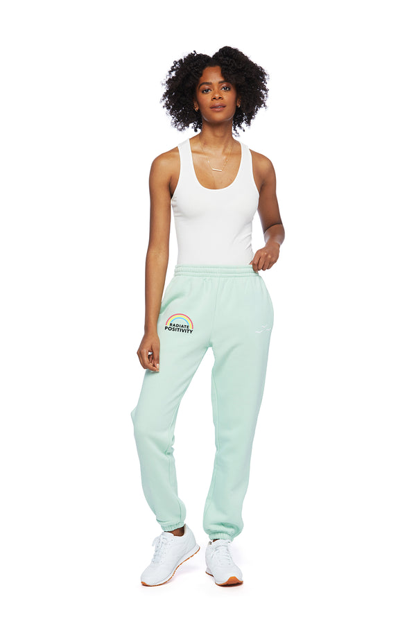 Nova Boyfriend Earth Day Jogger in Mint from Lazypants - always a great buy at a reasonable price.