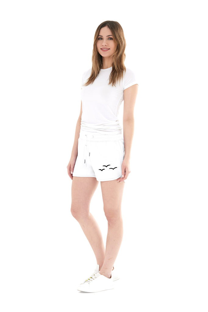 THE OLIVIA SHORTIE SHORT IN WHITE