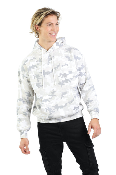 Men's hoodie in white camo from Lazypants - always a great buy at a reasonable price.