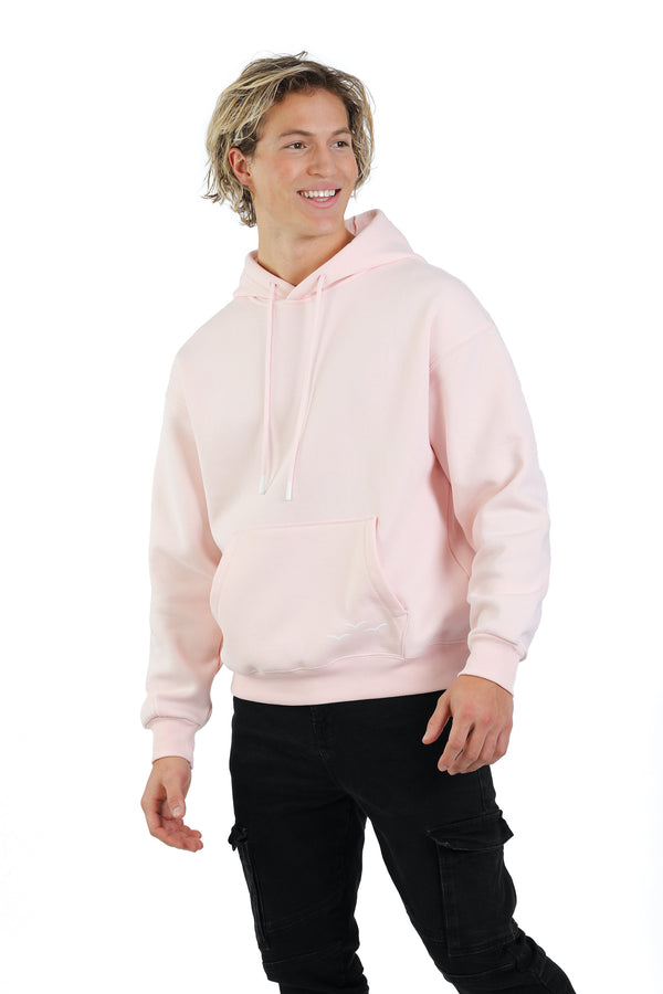 Men's hoodie in Petal pink from Lazypants - always a great buy at a reasonable price.