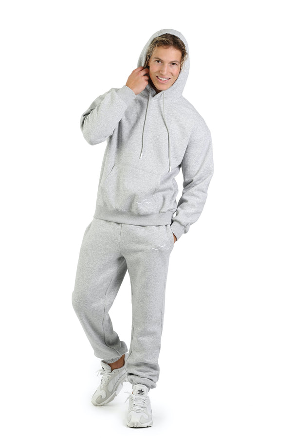 Men's sweat set in Classic Grey from Lazypants - always a great buy at a reasonable price.