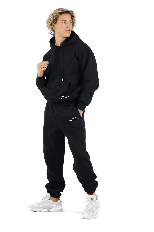 Men's sweat set in black from Lazypants - always a great buy at a reasonable price.