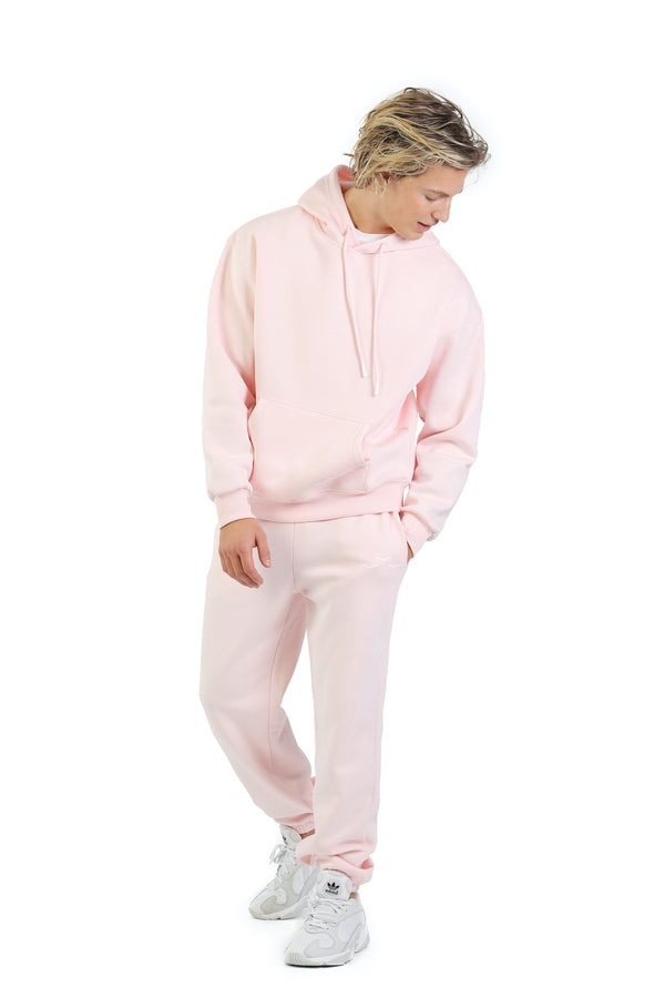 Men's sweat set in petal pink from Lazypants - always a great buy at a reasonable price.
